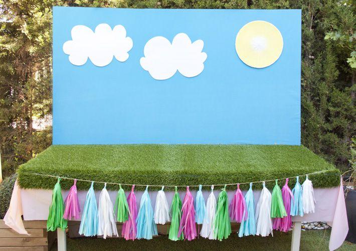 mesa de dulces infantiles azucarillos de colores tutorial cmo hacer el backdrop o fondo de tu