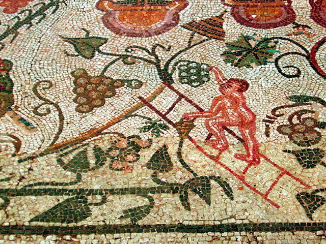 Vintage at Merida roman mosaic