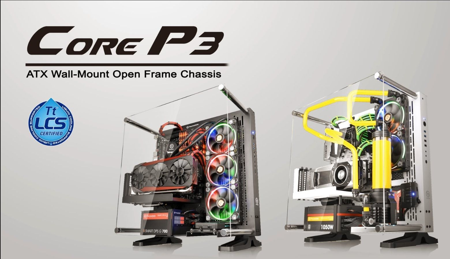 Thermaltake Core P3 Product Animation Built For Makers Open Frame Graphic Card Building