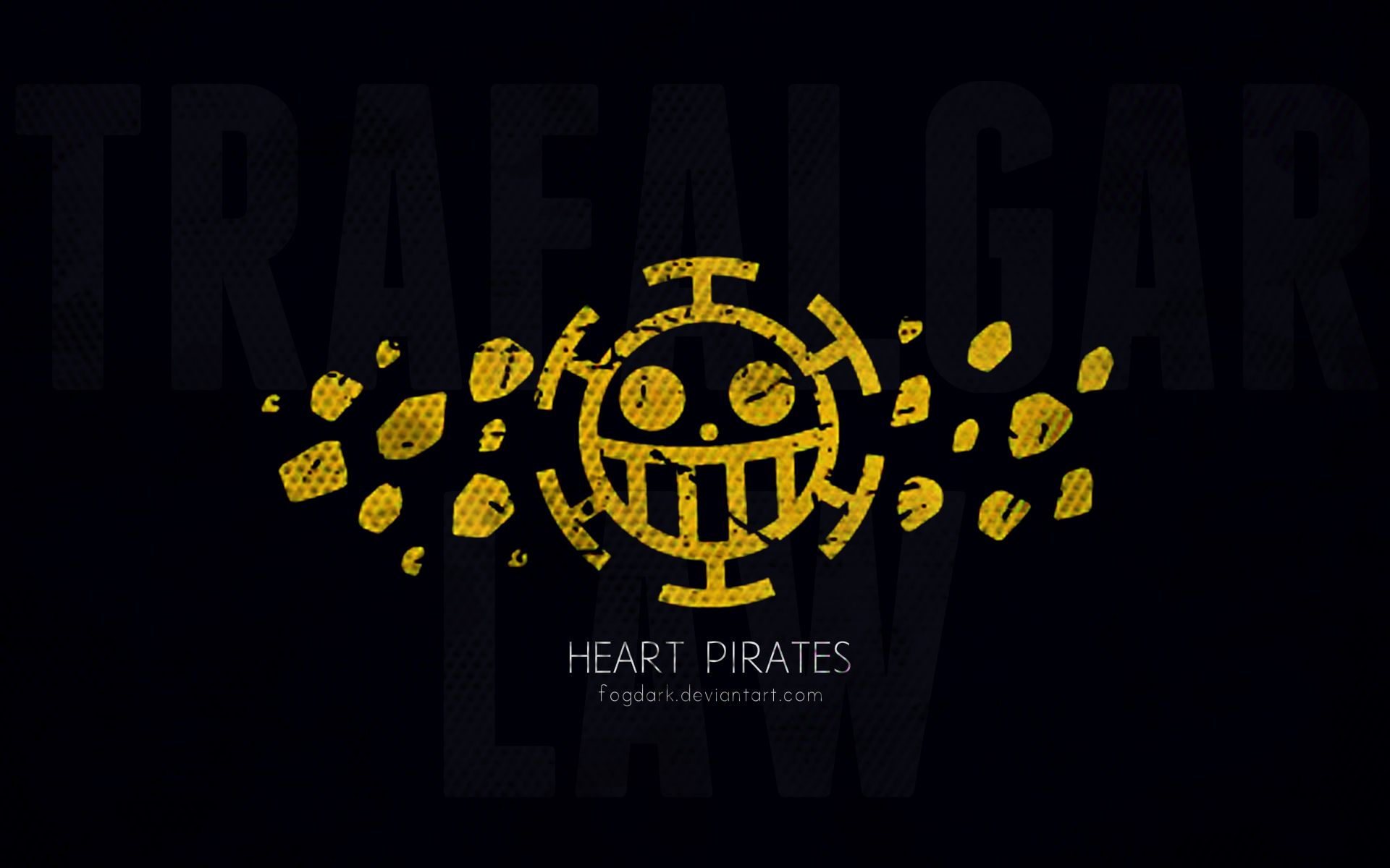 Minimalistic Heart Pirates One Piece Wallpaper By Fogdark Gambar
