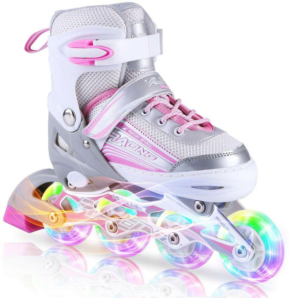 Advertisement Ebay Juego De Patines Para Niã As Grandes Y Pequeã As Ruedas En Linea De Colores Zapatos Para Niñas Patines Para Niños Patines De Niños