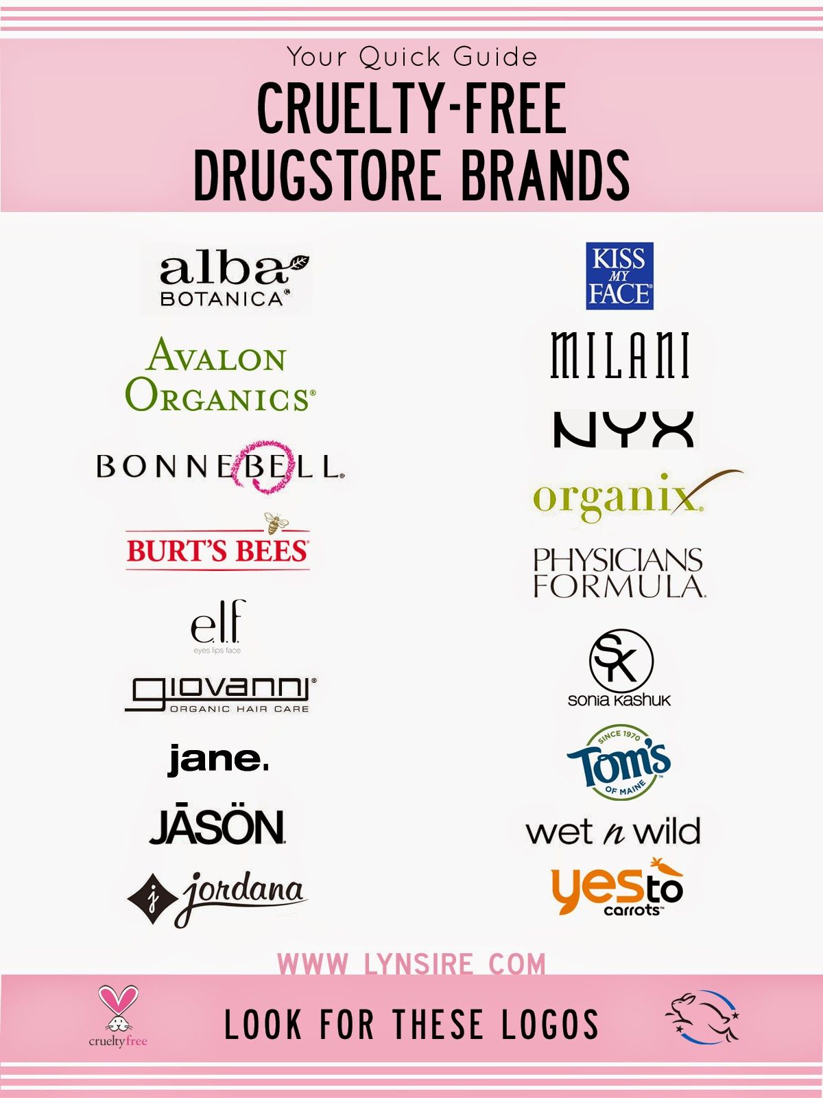 Animal Cruelty Free Makeup Brands Cruelty free, Organic