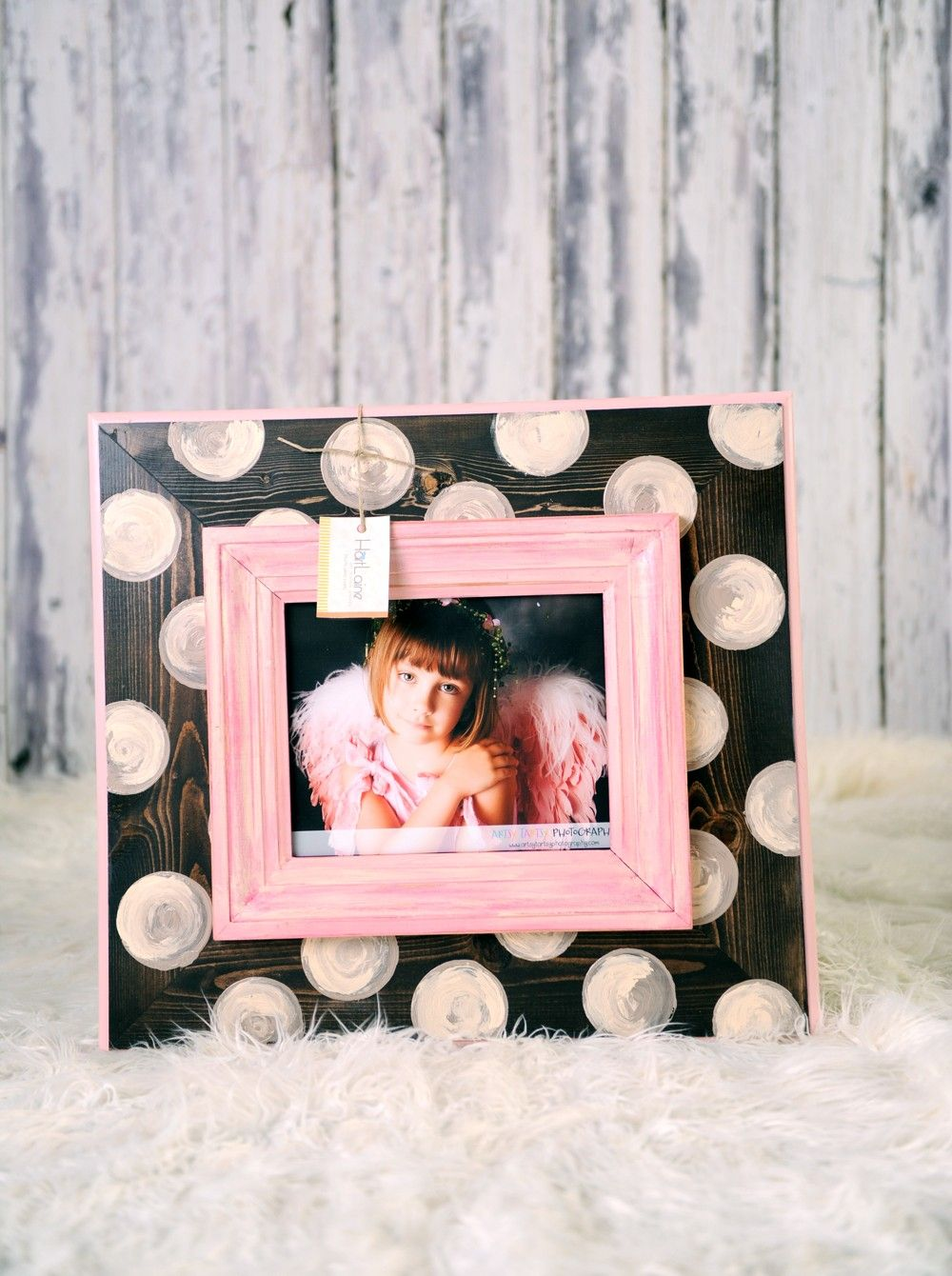8x10 picture frame pink and polka dots 9900 via etsy 8x10 picture frame pink and polka dots 9900 via etsy jeuxipadfo Image collections