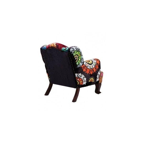 Ohrensessel patchwork  KARE Sessel Mandala Ohrensessel Patchwork ($985) ❤ liked on ...