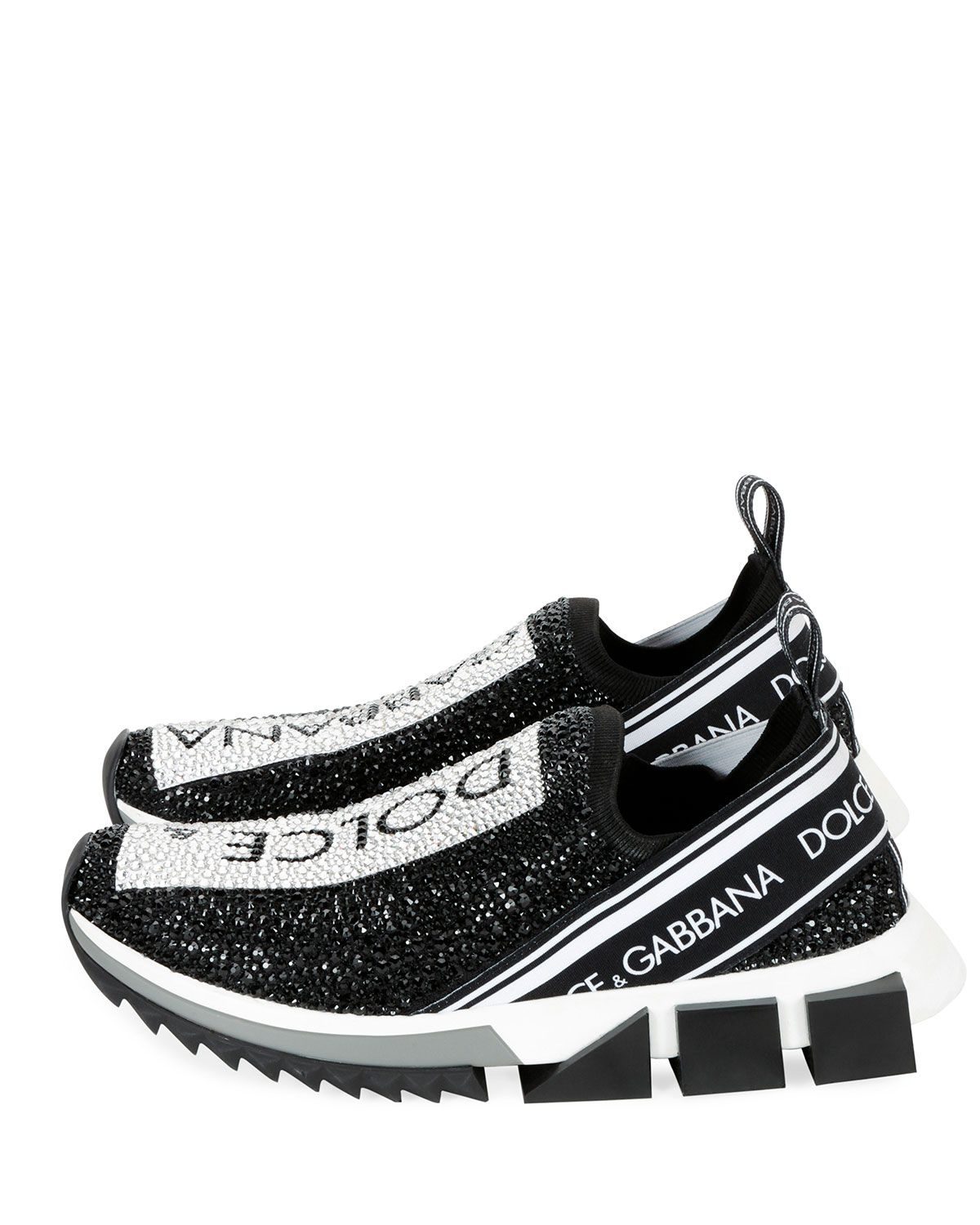 a61c0825ea6be Dolce & Gabbana Crystal Logo Slip-On Trainer Sneaker | Products in ...