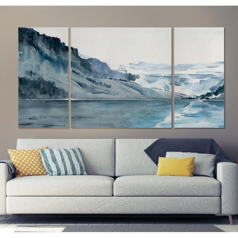 A premium winter fjords i graphic art print multipiece