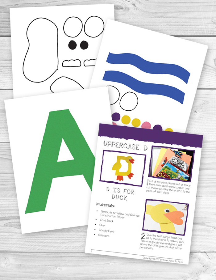 52 Alphabet Letter Crafts for Kids with Printable Templates - Alphabet letter crafts, Letter a crafts, Preschool alphabet book, Alphabet preschool, Lettering alphabet, Alphabet book - Creating an alphabet book with your preschooler is a fantastic way to introduce and practice the letters of the alphabet while creating a keepsake book that they can look through again and again