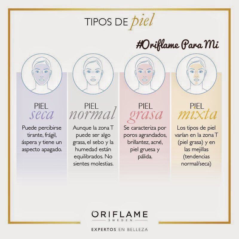 Conoces Tu Tipo De Piel En Oriflame Tenemos Sistemas Integrales De Belleza Para T Tipos De Piel Consejos Para La Piel Cuidado Natural De La Piel
