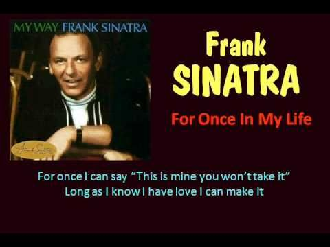 For Once In My Life Frank Sinatra