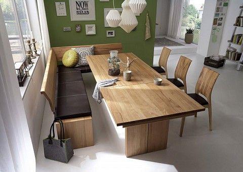 Esstisch ausziehbar Massivholz Eckbank küche