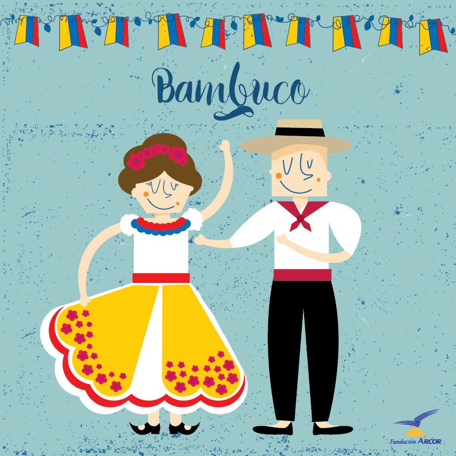 Romance y nostalgia lugareña. Autóctona de Colombia, posee características y esencia de campo, romántica y nostálgica a veces, pero también se utiliza para expresar el orgullo por la tierra y la raza. Aprende más sobre esta danza en: goo.gl/7Q7NWb