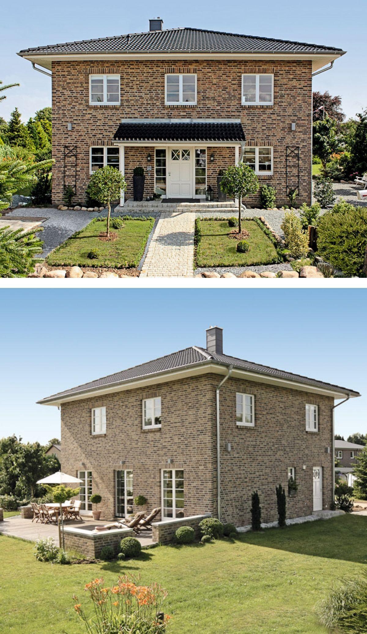 Moderne Landhaus Stadtvilla Mit Klinker Fassade Zeltdach