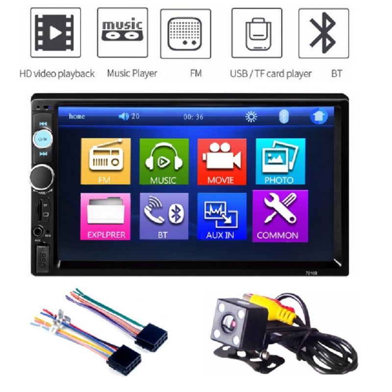 7 inch HD Touch Screen Bluetooth FM Radio Car MP5 Player with Remote Control