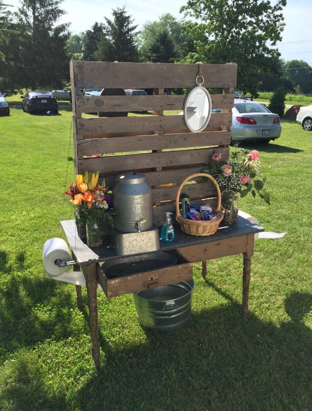 Hand Washing Station For Porta Potty S At Outdoor Wedding Https Www Djpeter Co Za Hand Washing Station Wedding Outdoor Wedding