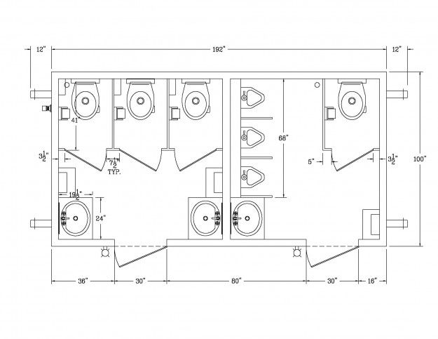 Préférence public bathroom layout dimensions in meters - Google Search  CN79