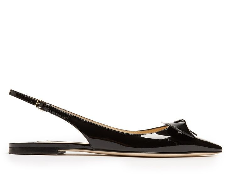 e226f20bb2be Jimmy Choo Blare point-toe slingback patent-leather flats