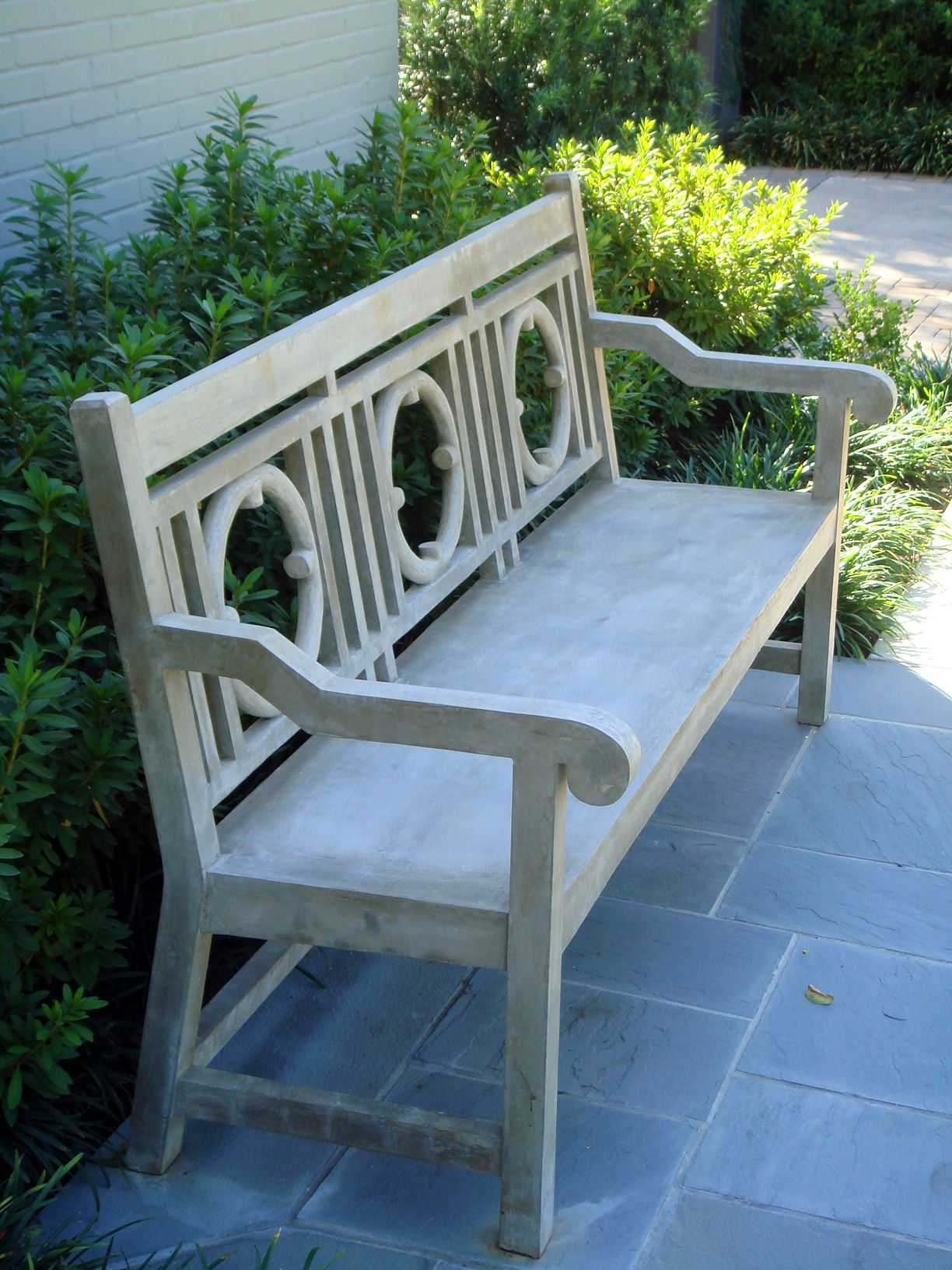 Faux bois houston texas bench furniture garden furniture outdoor furniture garden benches