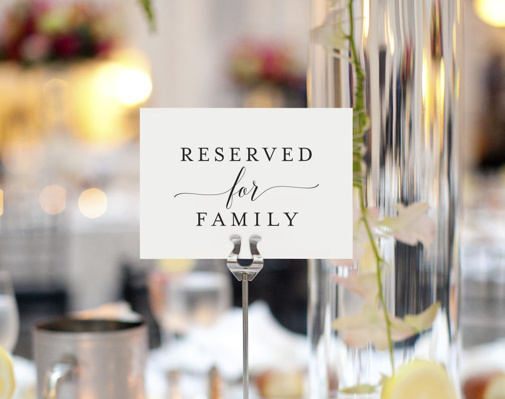 Free reserved for family printable card from bliss paper