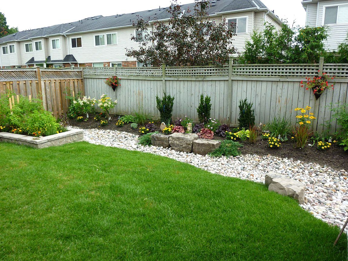 landscaping ideas for backyard on a budget easy low on layouts and landscaping small backyards ideas id=19299
