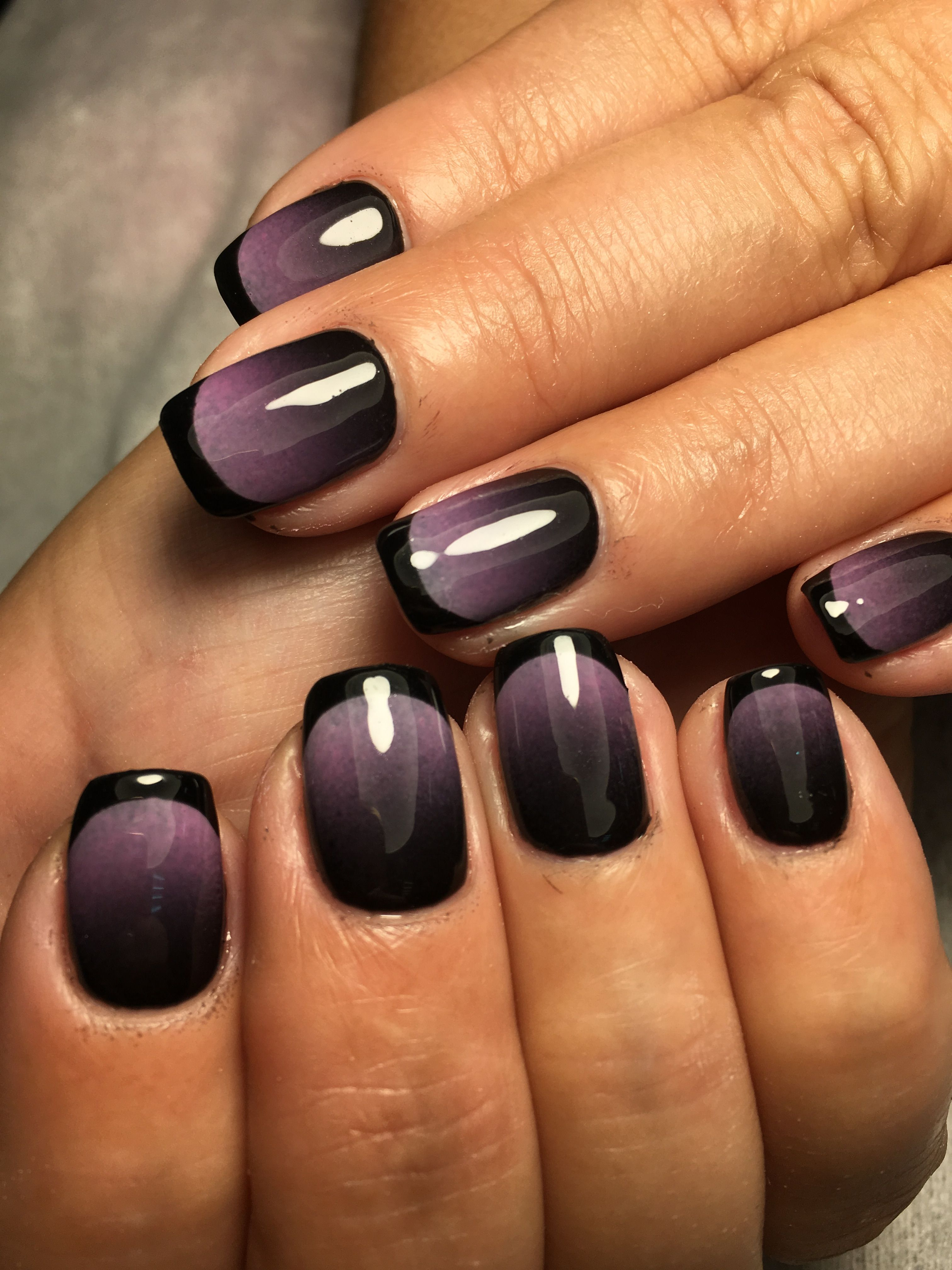 Purple ombre. Great Halloween nails in 2019