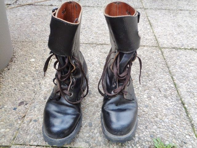 French Men Leather boots army bootsVintage 5RAjLq34