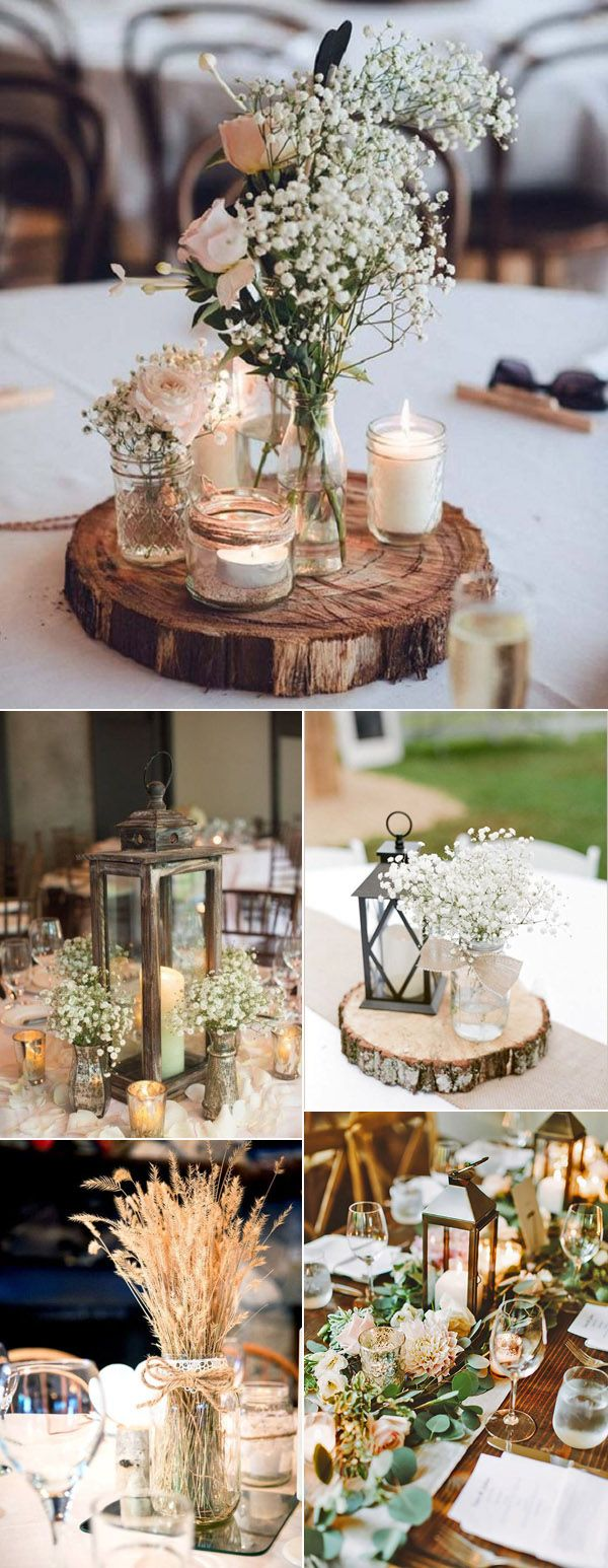 32 rustic wedding decoration ideas to inspire your big day wedding wedding centerpieces for rustic wedding decoration ideas junglespirit Images