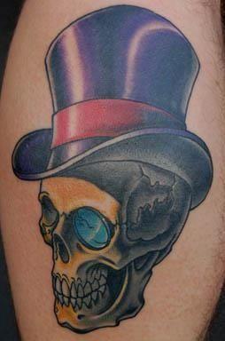 Tatuagem Caveira com cartola