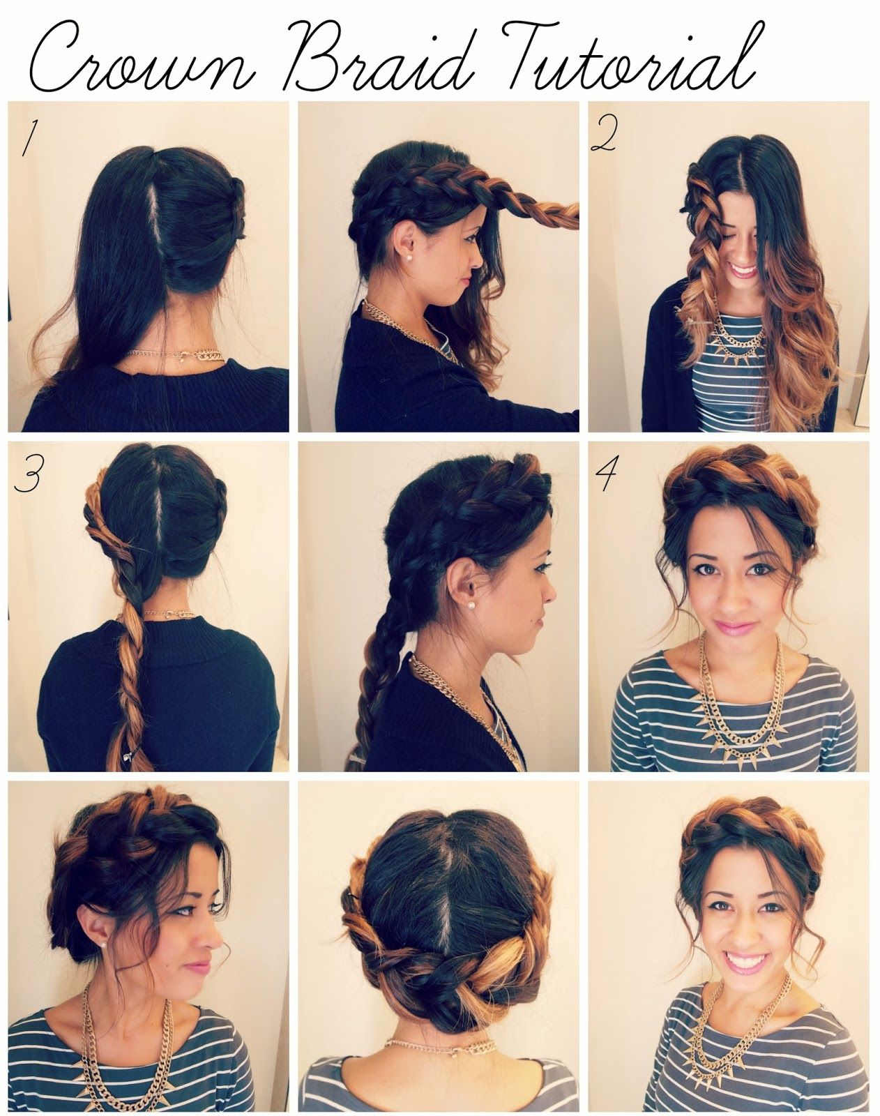 06 Cute Braided Hairstyles For Girls Braided Crown Hairstyles