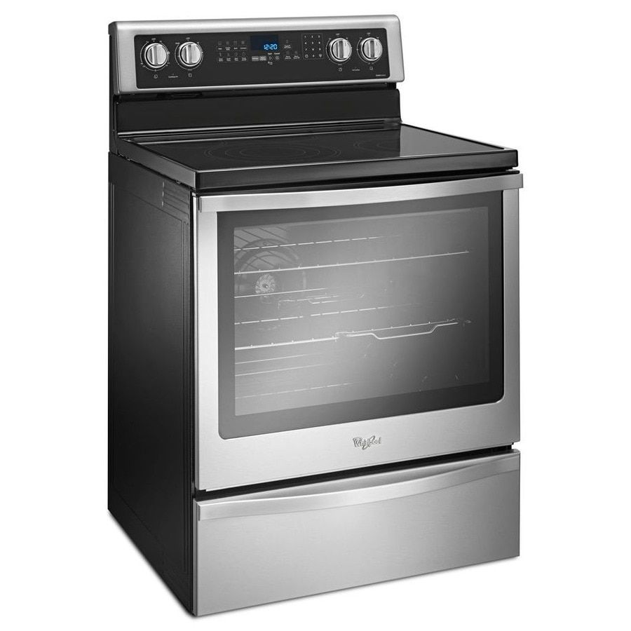 Whirlpool Smooth Surface 5 Elements 6 4 Cu Ft Self Cleaning