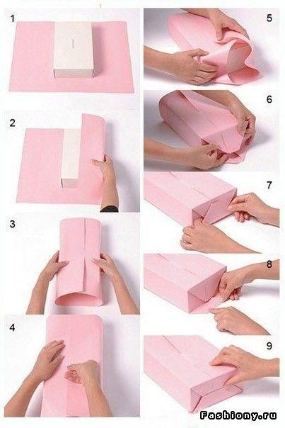 Красиво упаковать подарок в бумагу 31