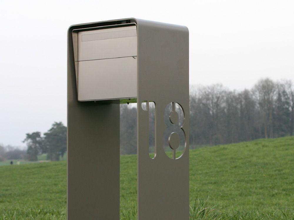 Briefkasten Edelstahl Freistehend Design Briefkasten