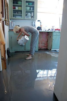 Self Leveling Cement Floor & How to pour self levelling cement yourself. | Pinterest | Cement ...