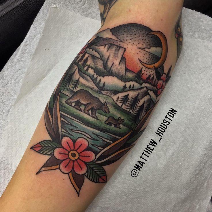 Black bear tattoo california bear tattoos and native