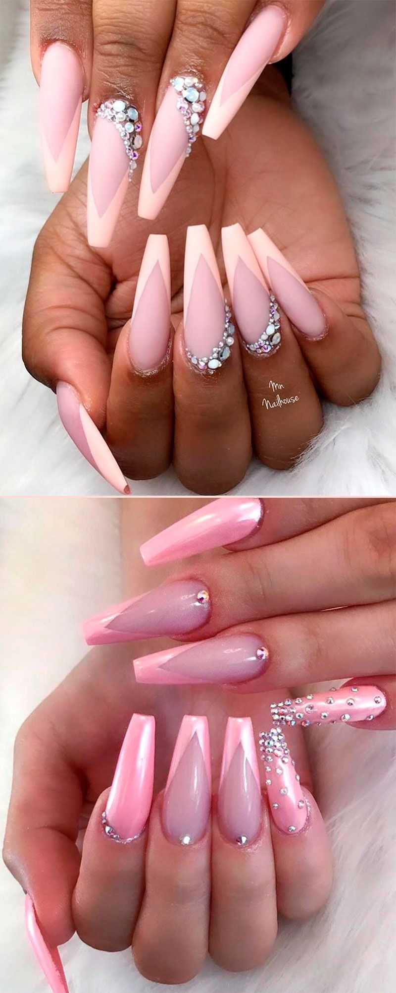 9 Stunning Modern French Manicure Ideas Stylish Belles Coffin Shape Nails Coffin Nails Designs Perfect Nails
