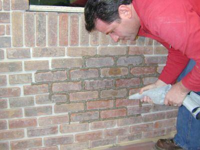 How To Grout Interior Brick Veneer Brick Veneer Brick Veneer Wall Brick Interior Wall