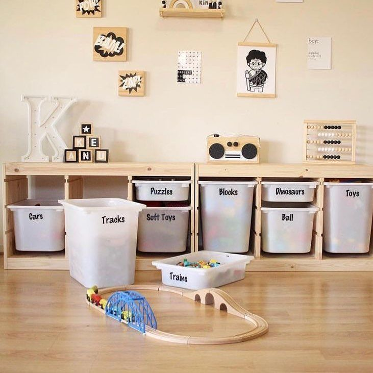 "mommodesign - Play Your Design on Instagram: ""Ikea storage #ikea #ikeahack #ikeahacks #kids #kidsroom #playroom #toys #toysrorage #trofast #kidsdecor #kidsinterior #kidsroominspo…"""