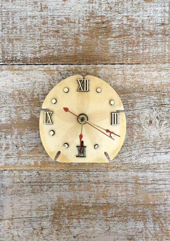 Wall Clock Seashell Clock Sand Dollar Clock Nautical Wall Clock ...