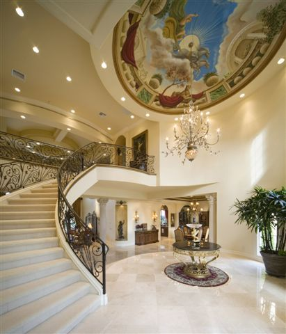 Luxury House Interiors In European Styles. Interior Period Design,  Architect Designed Custom Home Interiors