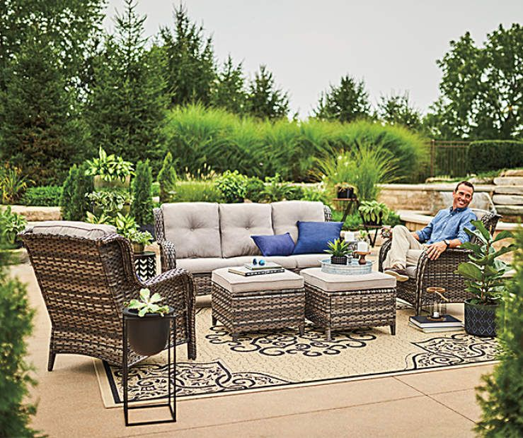 Wilson Fisher Lakewood 5 Piece Patio Furniture Set With Hard Top Gazebo At Big Lots Outdoor Patio Decor Backyard Furniture Gazebo Big Lots