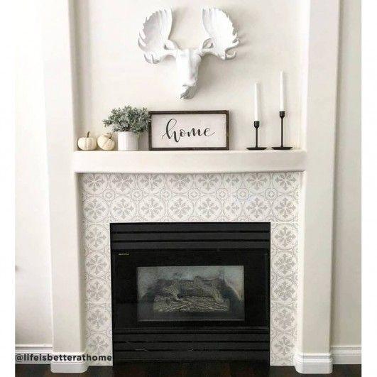 Abbey Tile Stencil | Diy fireplace makeover, Fireplace ...