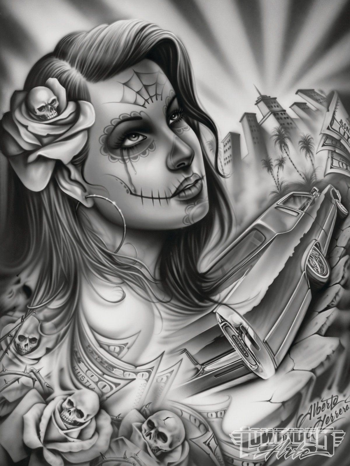 Alberto Herrera Feature Artist Lowrider Arte Magazine Lowrider Tattoo Lowrider Art Chicano