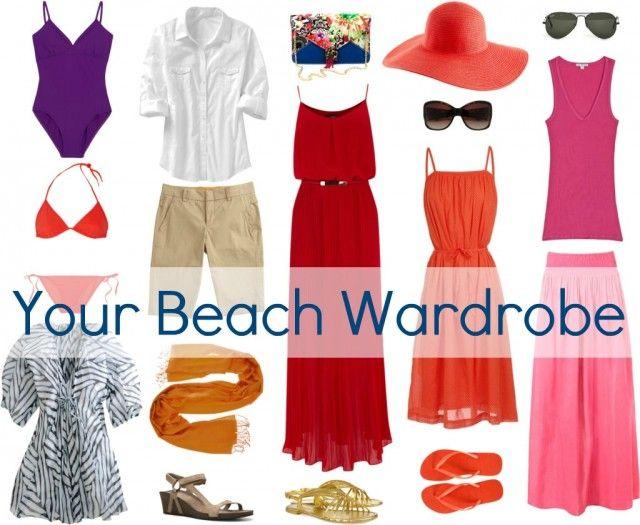 Beach wardrobe.