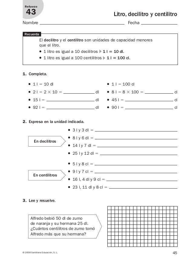 Refuerzo Matematicas 4º Primaria.