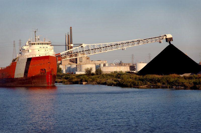 Coal ship detroit coal ship at local detroit steel mill