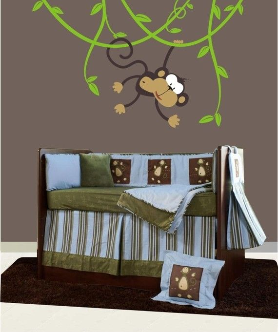 Monkey Decals Baby Nursery With Images Monkey Decal Baby Boy Rooms Kids Room Decals