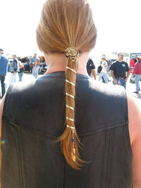 The Ponytail Wrap 6 Gold is a fun hair accessory for decorating your  ponytail. Keep your hair up and off your neck and add some style. The sturdy 49bc588e14e