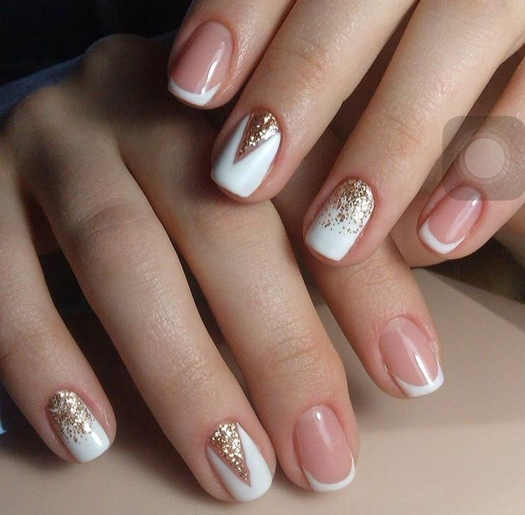 Blanco u as en 2019 ongles naturels ongle gel naturel - Modelo de unas pintadas ...