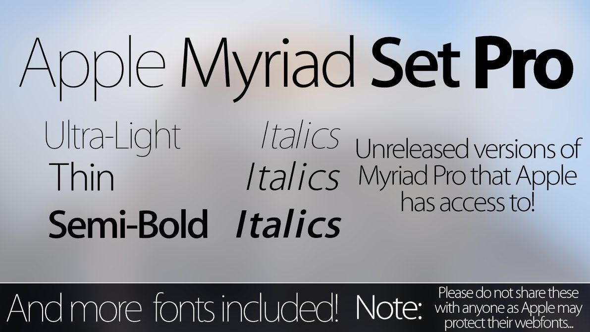 Myriad Set Pro Fonts - Download - Updated 2 0 by simalary44