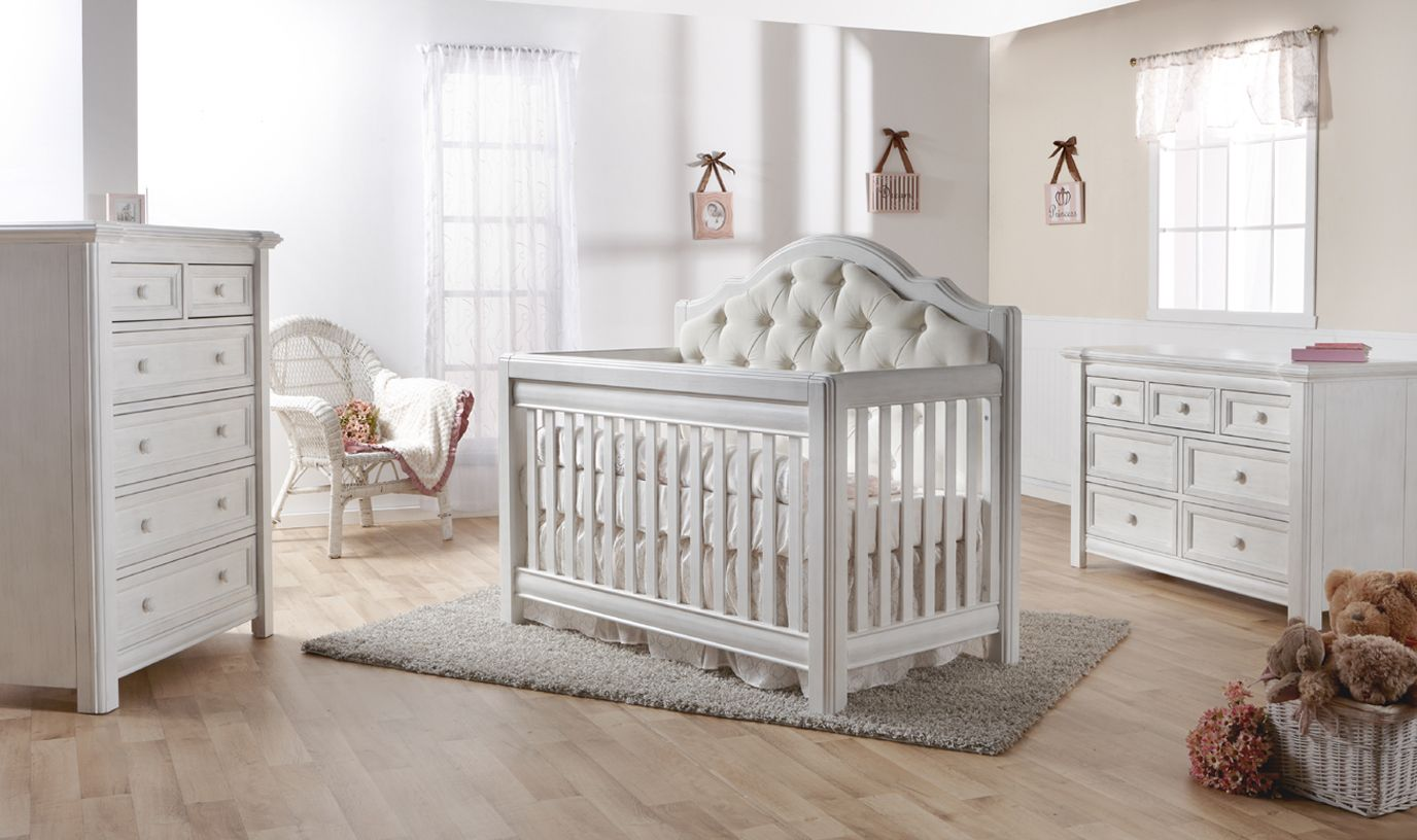 Pali Cristallo In Vintage White With Upholstery Baby Furniture Sets Nursery