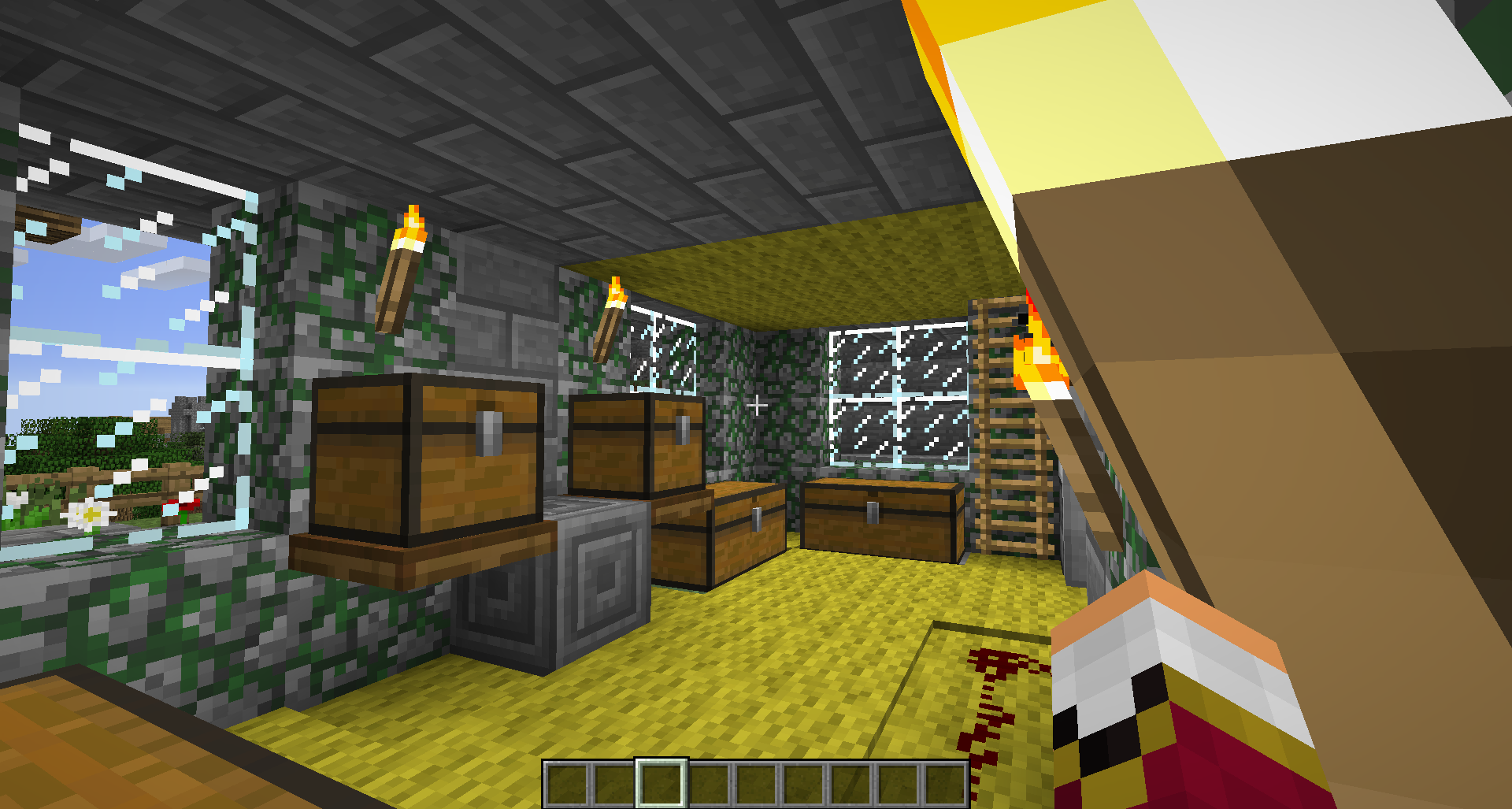 Modern storage area - 108 170 54 82 38003 Lizc864 Minecraft My 12th Structure Modern Villa W Yellow Carpetstorage Areaminecraftvillascarpets